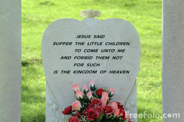 Picture of Jesus said Suffer the little children to come unto me and forbid them not for such is the kingdom of Heaven - Free Pictures - FreeFoto.com