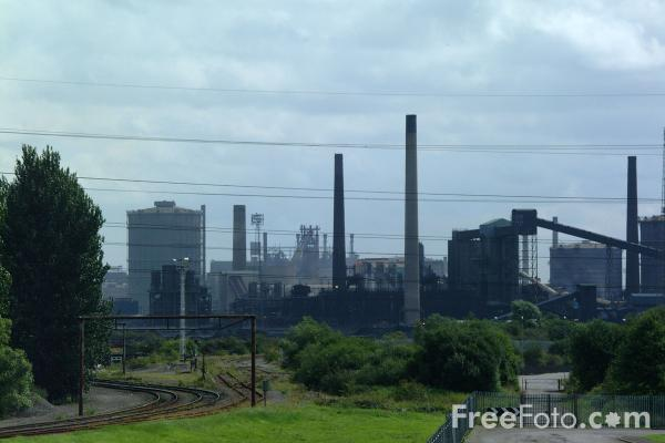Picture of Llanwern steel works - Free Pictures - FreeFoto.com