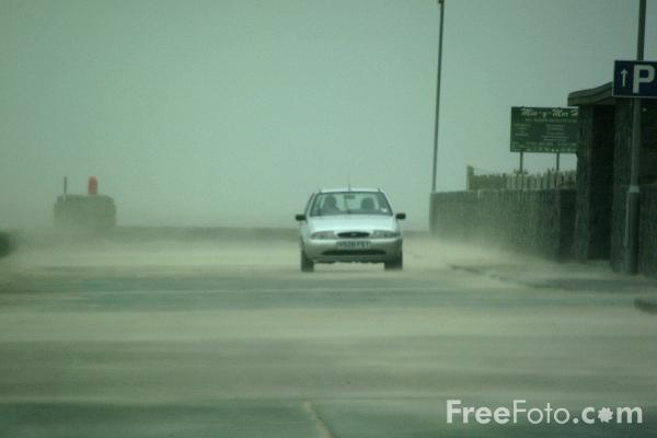 Picture of Sand Storm, The Sea Front, Barmouth, Gwynedd, Wales - Free Pictures - FreeFoto.com