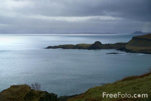 Picture of Grey Sky, Sound of Raasay, Isle of Skye, Scotland - Free Pictures - FreeFoto.com