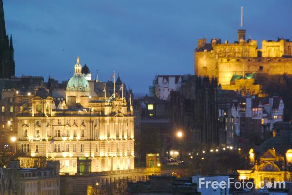 Picture of Night Time, Edinburgh - Free Pictures - FreeFoto.com