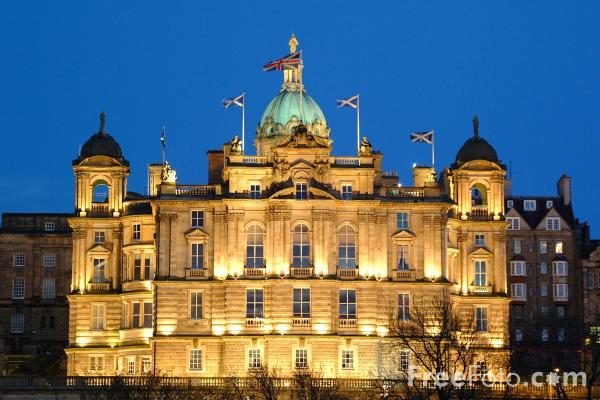 Picture of HBOS head office, Night Time, Edinburgh - Free Pictures - FreeFoto.com