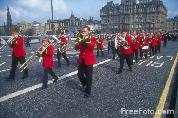 Picture of Brass Band, Edinburgh - Free Pictures - FreeFoto.com