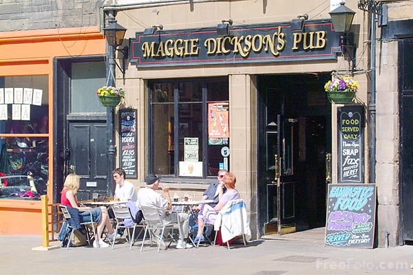 Picture of Maggie Dickson's Pub, West Bow, Edinburgh - Free Pictures - FreeFoto.com
