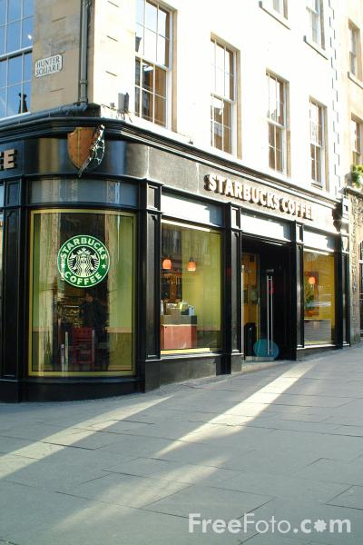 Picture of Starbucks, The Royal Mile, Edinburgh - Free Pictures - FreeFoto.com