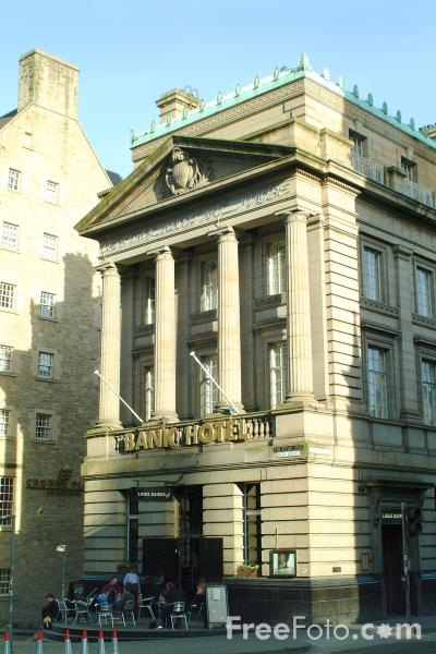 Picture of Bank Hotel, The Royal Mile, Edinburgh - Free Pictures - FreeFoto.com