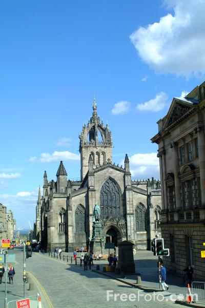 Picture of St. Giles Cathedral, The Royal Mile, Edinburgh - Free Pictures - FreeFoto.com