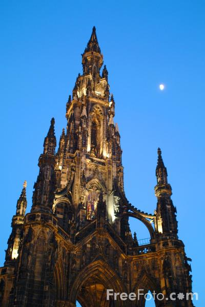 Picture of Scott Monument, Edinburgh - Free Pictures - FreeFoto.com