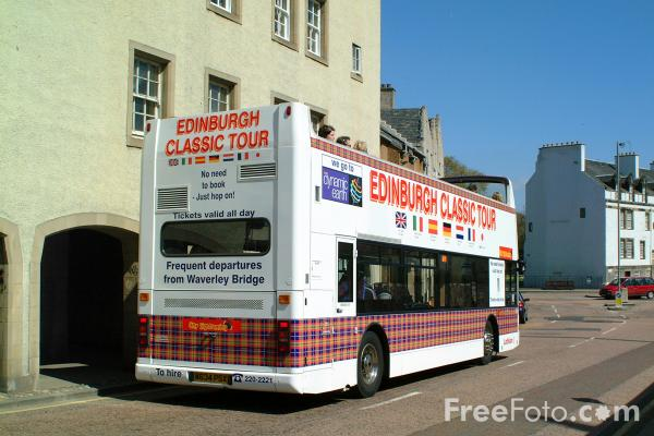 Picture of The Edinburgh Classic Tour Bus, Edinburgh - Free Pictures - FreeFoto.com