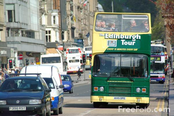 Picture of Guide Friday Tourist Bus, Edinburgh - Free Pictures - FreeFoto.com