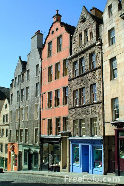 Picture of West Bow, Edinburgh - Free Pictures - FreeFoto.com