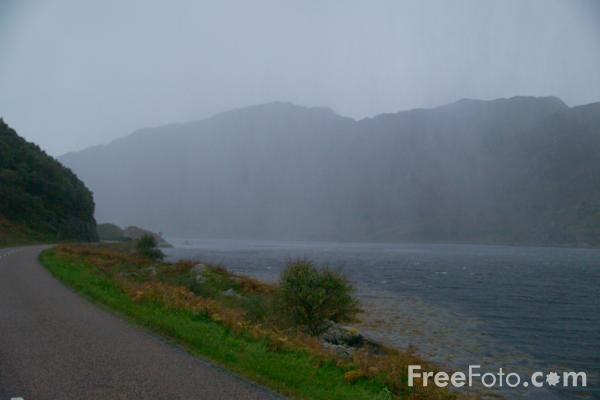 Picture of Rainy Day, Loch Ailort - Free Pictures - FreeFoto.com