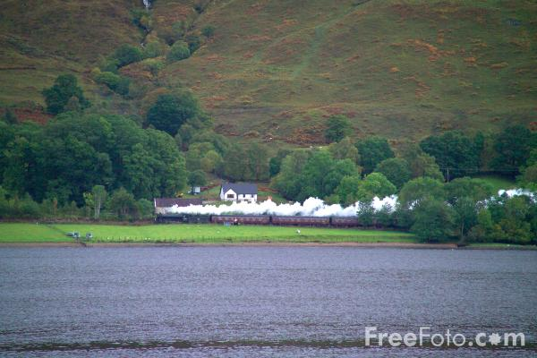 Picture of Jacobite Steam Train , Loch Eil - Free Pictures - FreeFoto.com