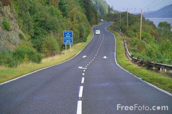 Picture of A82 road beside Loch Ness - Free Pictures - FreeFoto.com