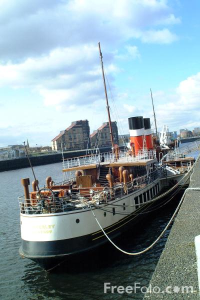 Picture of Paddle Steamer Waverley at Anderson Quay, Glasgow - Free Pictures - FreeFoto.com