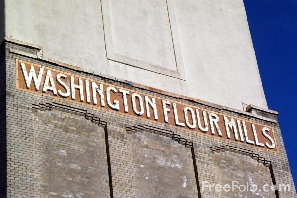 Picture of Washington Flour Mills, Anderston Quay, Glasgow - Free Pictures - FreeFoto.com