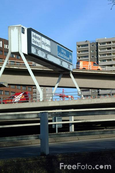 Picture of M8 Motorway, Glasgow - Free Pictures - FreeFoto.com