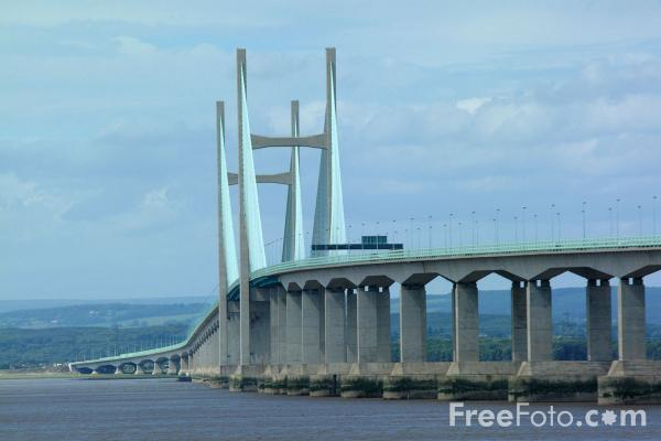 Picture of The New Severn Bridge linking England to Wales - Free Pictures - FreeFoto.com
