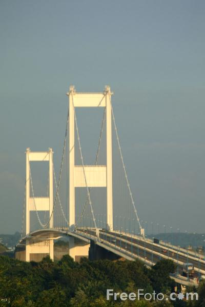 Picture of Severn Bridge linking England to Wales - Free Pictures - FreeFoto.com