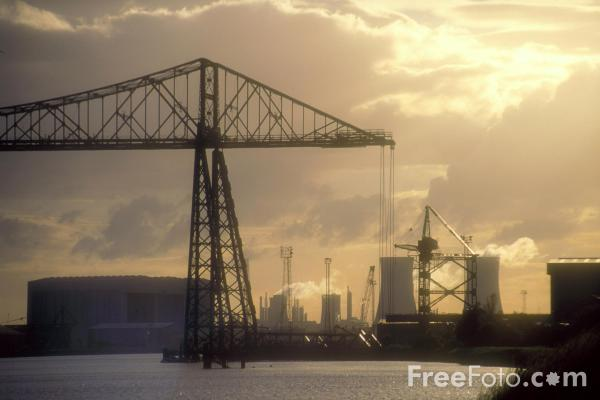 Picture of The Transporter Bridge, Middlesbrough. - Free Pictures - FreeFoto.com