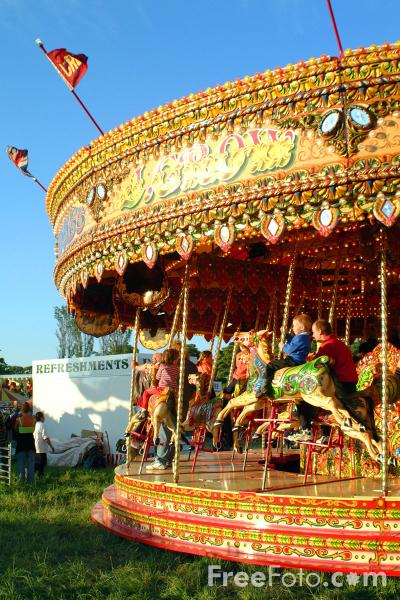 Picture of Merry go round, The Hoppings, Newcastle upon Tyne - Free Pictures - FreeFoto.com