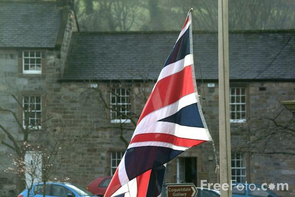 Picture of Union Jack at half mast - Free Pictures - FreeFoto.com