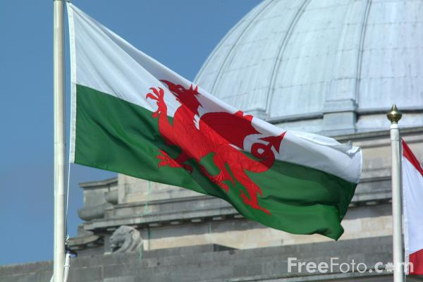 Picture of Welsh Flag - Free Pictures - FreeFoto.com