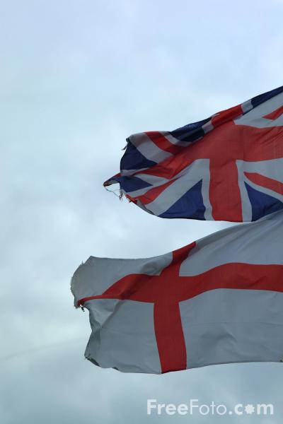 Picture of Union Jack and English Flag - Free Pictures - FreeFoto.com