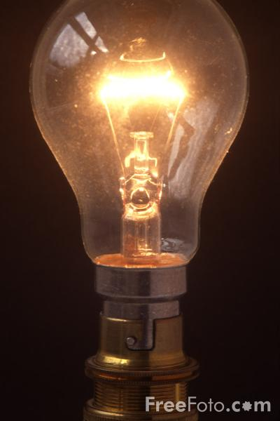 Picture of Electric Light Bulb - Free Pictures - FreeFoto.com