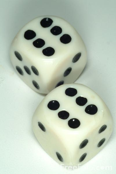 Picture of Dice Double Six - Free Pictures - FreeFoto.com