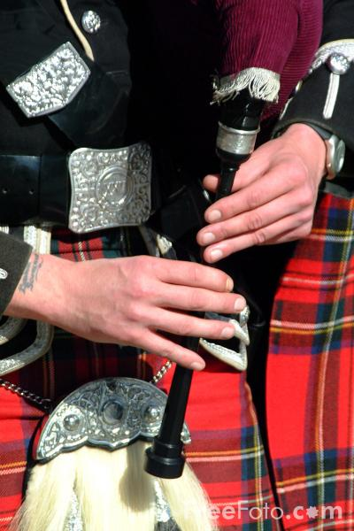 Picture of Highland Bagpipes - Free Pictures - FreeFoto.com