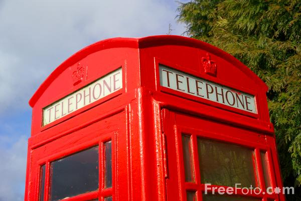Picture of Telephone Box - Free Pictures - FreeFoto.com