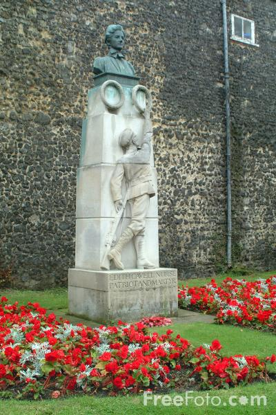 Picture of Edith Cavell Nurse Patriot and Martyr, Norwich, England - Free Pictures - FreeFoto.com