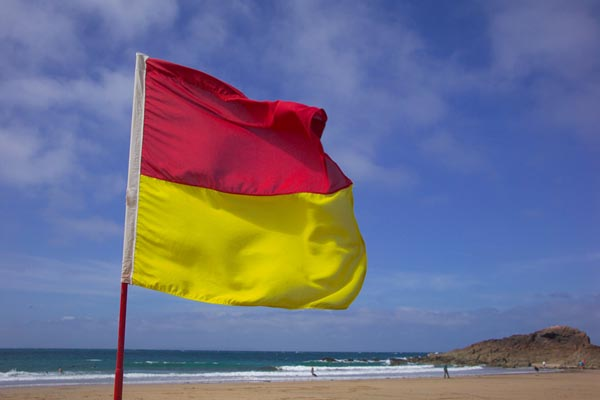 Picture of Red and Yellow flag - Free Pictures - FreeFoto.com