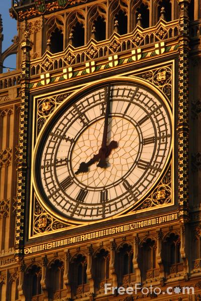 Picture of Big Ben Clock Face, London - Free Pictures - FreeFoto.com