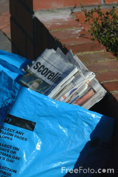 Picture of Newspapers for Recycling - Free Pictures - FreeFoto.com