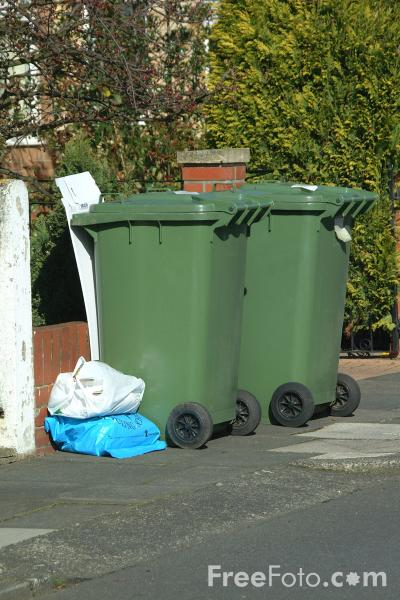 Picture of Wheelie Bins - Free Pictures - FreeFoto.com