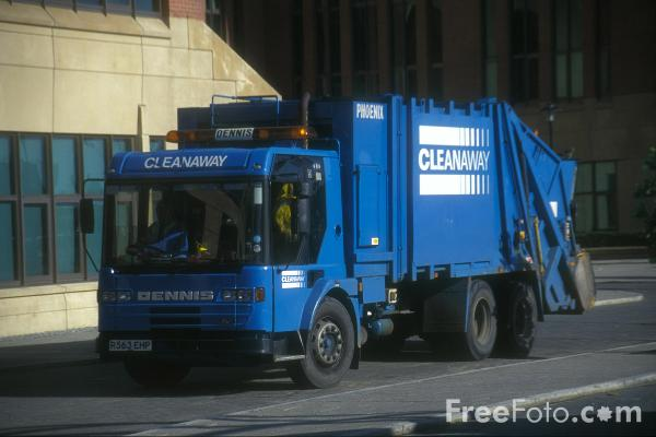 Picture of Cleanaway Refuse Lorry - Free Pictures - FreeFoto.com