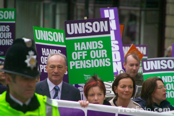 Picture of Hands off our pensions! - Free Pictures - FreeFoto.com