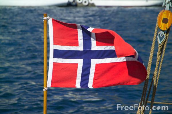 Picture of Flag Norway Norwegian - Free Pictures - FreeFoto.com