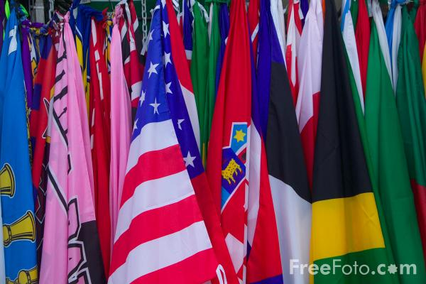 Picture of Flags - Free Pictures - FreeFoto.com