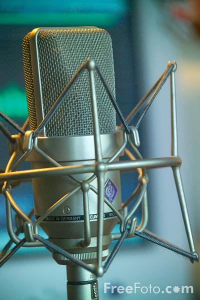 Picture of Neumann Microphone - Free Pictures - FreeFoto.com