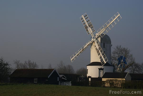 Picture of Saxtead Green Post Mill, Suffolk, England, - Free Pictures - FreeFoto.com