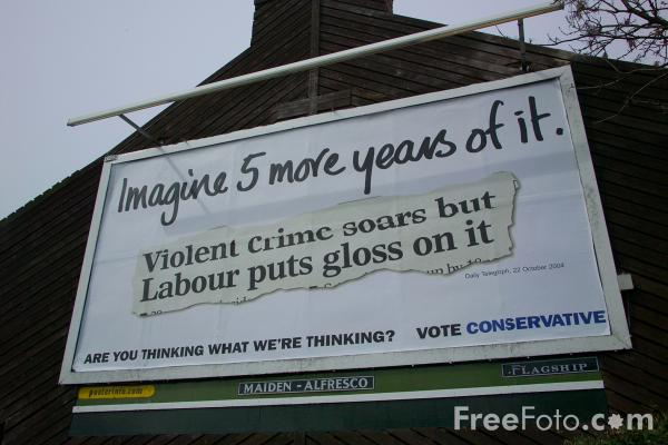 Picture of Conservatives Poster Campaign 2005 - Free Pictures - FreeFoto.com