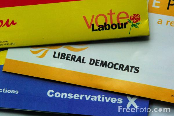 Picture of Vote Conservatives, Labour or Liberal Democrats - Free Pictures - FreeFoto.com