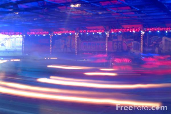 Picture of Bumper Cars, The Hoppings Fun Fair, Town Moor, Newcastle upon Tyne - Free Pictures - FreeFoto.com