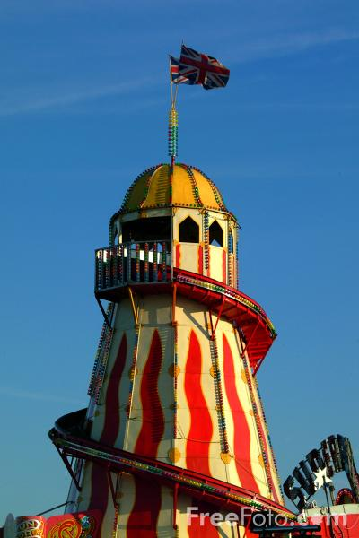 Picture of Helter Skelter, The Hoppings Fun Fair, Town Moor, Newcastle upon Tyne - Free Pictures - FreeFoto.com