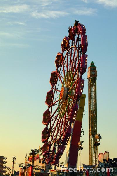 Picture of The Hoppings Fun Fair, Town Moor, Newcastle upon Tyne - Free Pictures - FreeFoto.com