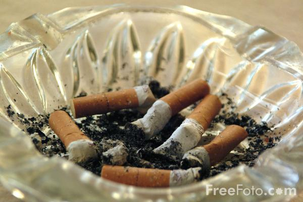 Picture of Cigarette Ash Tray - Free Pictures - FreeFoto.com