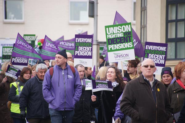 Picture of Day of Action for Pensions Justice - Free Pictures - FreeFoto.com